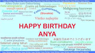 Anya   Languages Idiomas - Happy Birthday