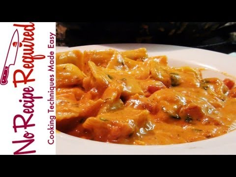 Cheese Ravioli with Creamy Marinara – NoRecipeRequired.com