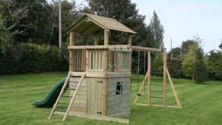 The Discovery Wooden Climbing Frame From Maxplay