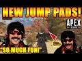 DrDisrespect & His Squad LOVE New JUMP PADS & Use Them In Battle! - Apex Legends!