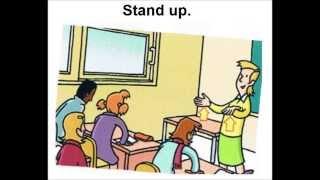 Les consignes du professeur en anglais