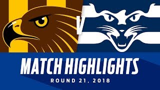 Hawthorn v Geelong Highlights | Round 21, 2018 | AFL