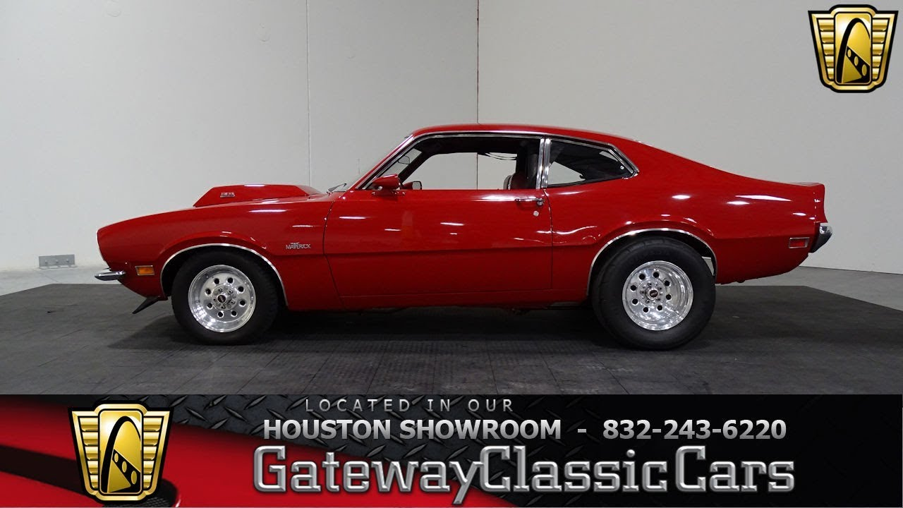 1970 ford maverick gateway classic cars 1035 houston showroom youtube. Black Bedroom Furniture Sets. Home Design Ideas