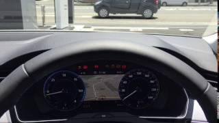 VW パサートB8 GTEのアクティブインフォディスプレイ、 IG-ONにしたとき...