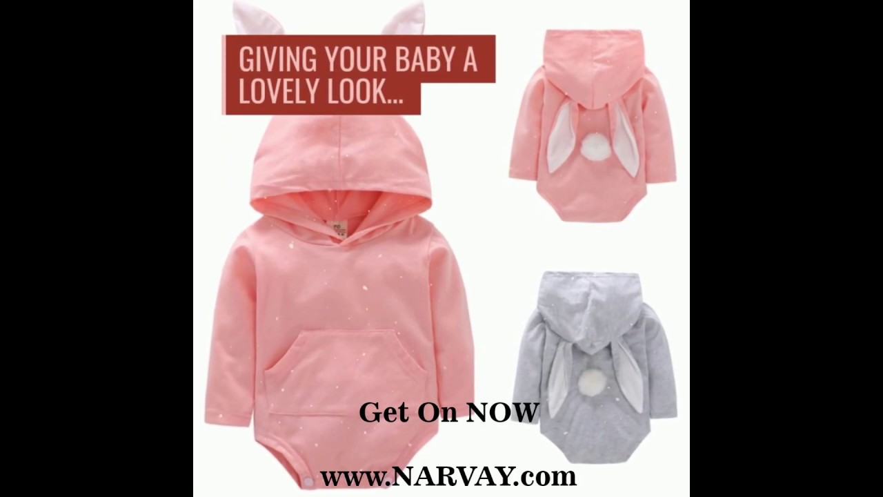 5d177c7c Baby Girls Boys Romper Jumpsuit Hooded - YouTube
