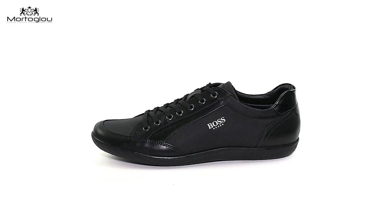 c2340c35dc7 Ανδρικά Παπούτσια Casual Boss Shoes K01301 Black Fabric - YouTube