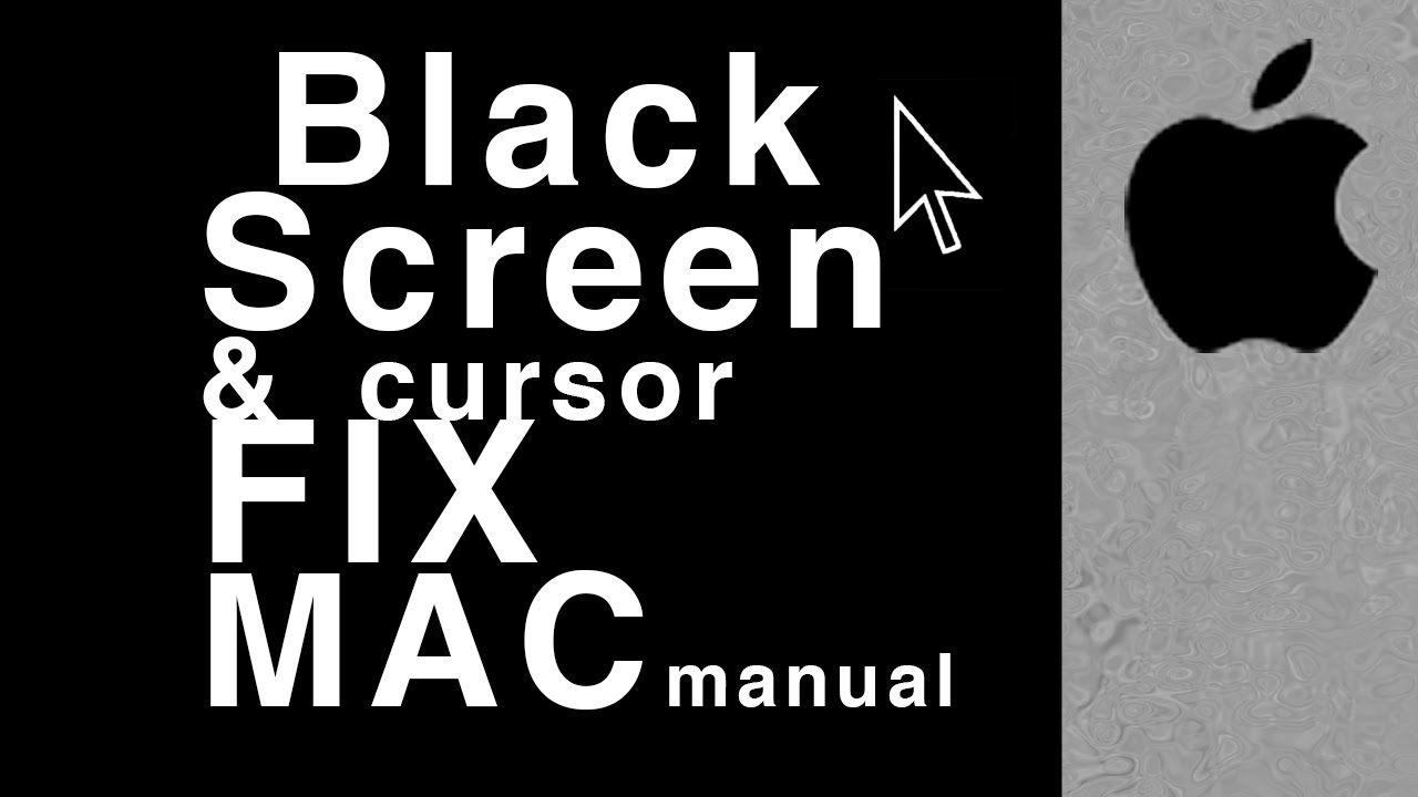 Black Screen with active cursor stuck How To Fix Mac