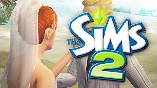 BEACH WEDDING 💕💍 | THE SIMS 2 // BROKE FAMILY— PART 19