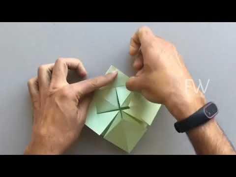 DIY origami greeting card napkin style folding