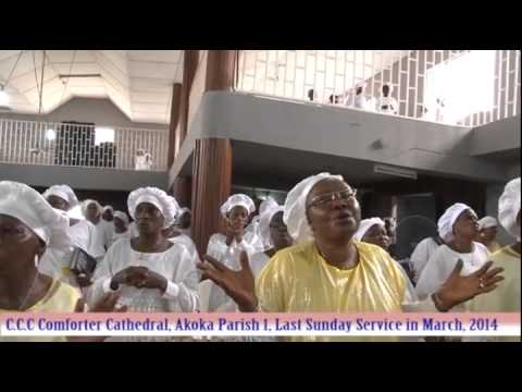 CELESTIAL CHURCH OF CHRIST COMFORTER CATHEDRAL AKOKA PARISH 1,LAST SUNDAY SERVICE IN ...