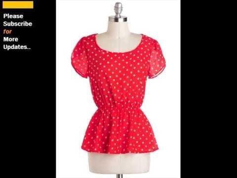 Red And White Polka Dot Skirt | Polka Dot Cotton Clothing Romance