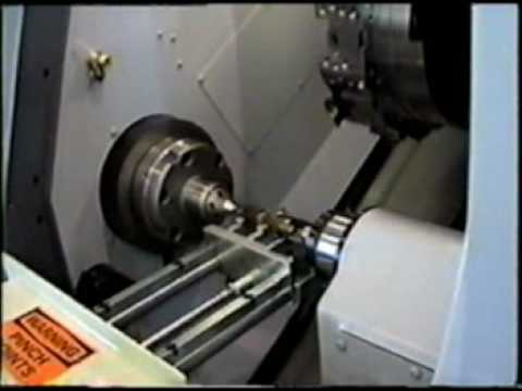 Load And Unload Part Between Centers On Cnc Lathe Part