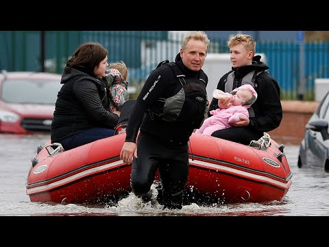 UK Weather: 'Biblical' Rain Floods Yorkshire Streets And Rivers