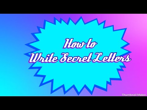 How to write secret letters ☺