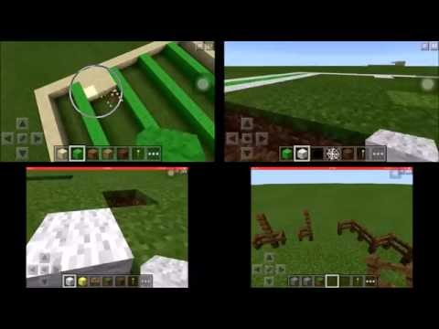 Minecraft How To - Sports Edition - Swimming Pool, Tennis Court, Football Field, Horse Course