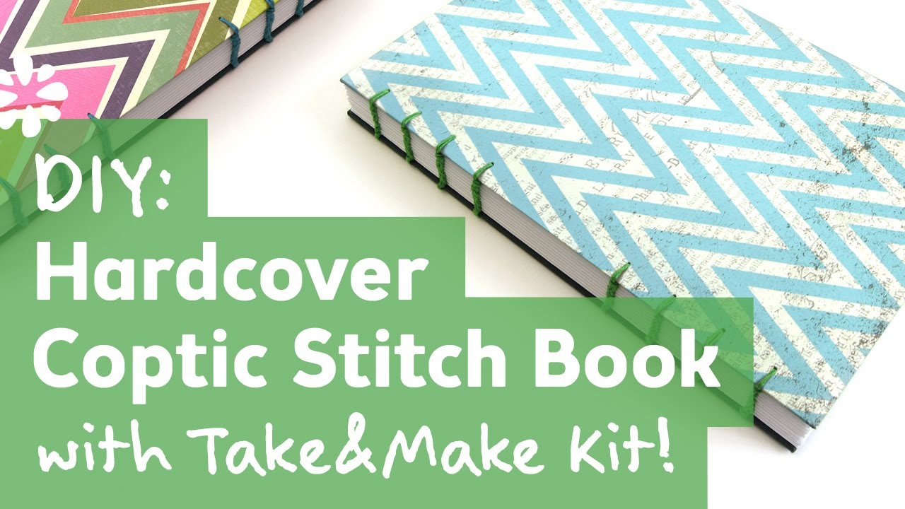 Diy Hardcover Book : Diy coptic stitch book with take make kit youtube