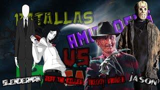 Jeff The Killer & Slenderman Vs Jason Voorhees & Freddy Krueger l RoSan, Shado, TramZeta e IsuRmX