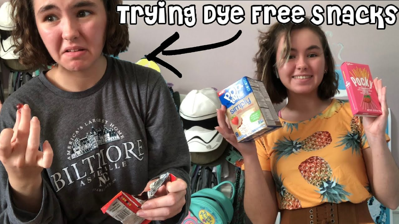 My Favorite Dye Free Snacks Trying Some Other Dye Free Snacks Youtube