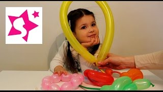 Делаем зверушек и фигурки из шариков.Making air balloons animals.