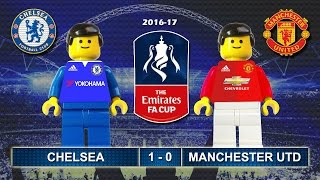 FA Cup 2017 • CHELSEA vs MANCHESTER UNITED 1-0 • Lego Football Highlights • The FA Cup 2016/17