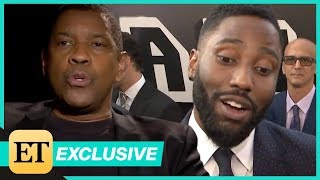 Watch Denzel Washington Surprise Son John David With 'Fan Question!' (Exclusive)