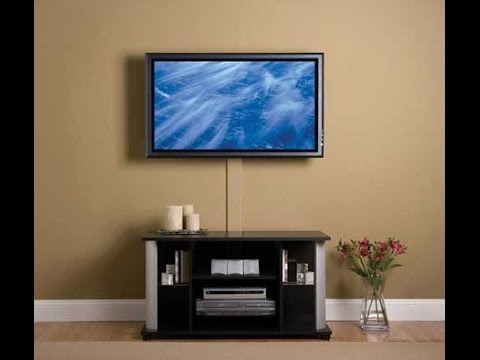 how to mount led tv on plaster wall youtube rh youtube com hanging tv on the wall in a rental hanging a tv on the wall without studs