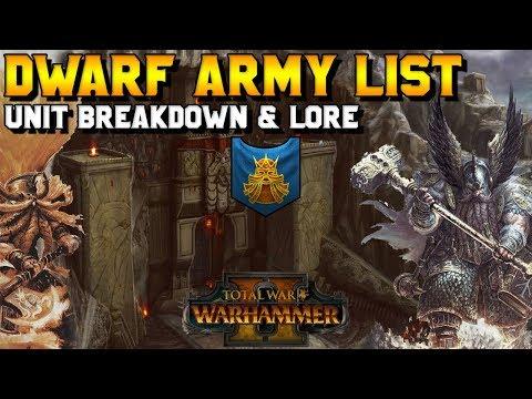 Dwarf Army List: Unit Breakdown & Lore   Total War: Warhammer 2