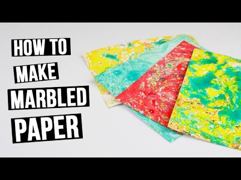 how to make a marbled paper for scrapbooking youtube. Black Bedroom Furniture Sets. Home Design Ideas