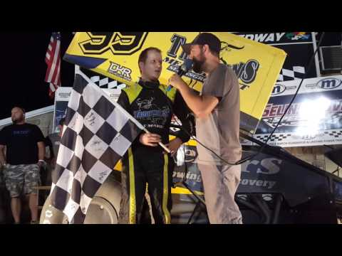 Selinsgrove Speedway 360 Sprint Car Victory Lane 7-09-16