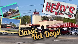 Heid's of Liverpool- Eating hotdogs at the most classic hot dog stand in New Yor