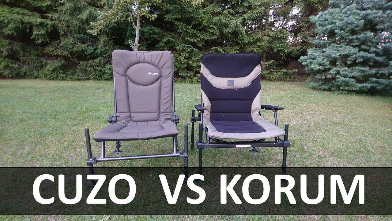 fishing chair cuzo positions on a krzeslo f2 vs korum x25 standard youtube