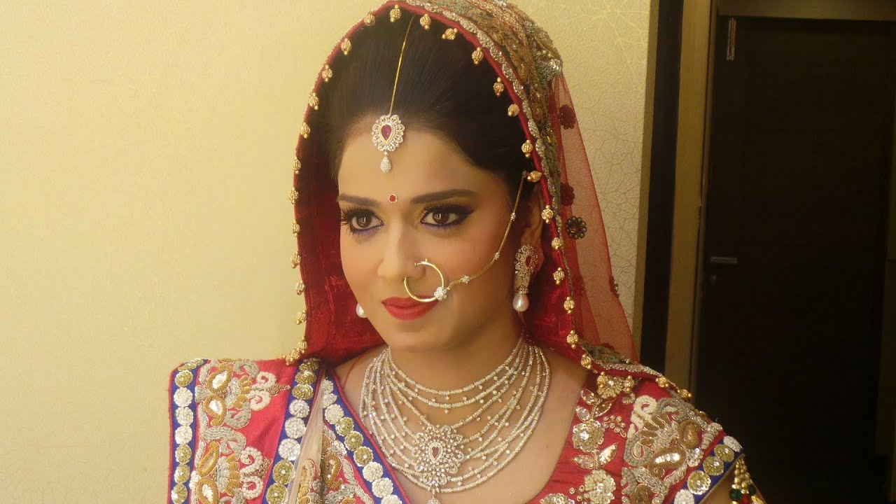 indian bridal makeup - classy rajasthani look - youtube
