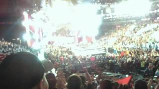 raw after wrestlemania opening pyro and vince mcmahon entrance