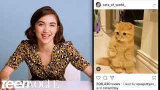 Rowan Blanchard Breaks Down Her Favorite Instagram Accounts | Teen Vogue