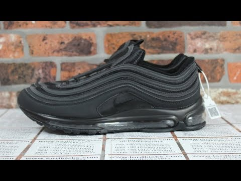 NIKE AIR MAX 97 OG QS MENS ALL BLACK Air Max 97 - YouTube 8dd031cf5238