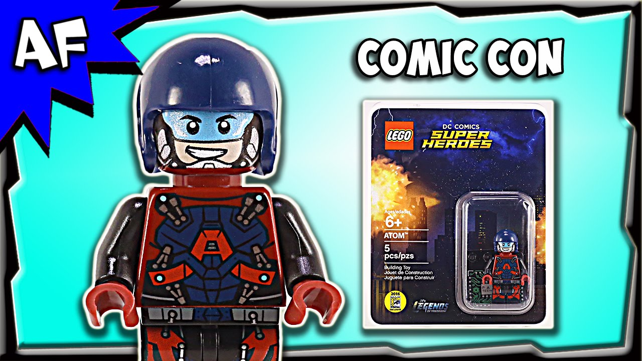 Comics Dc Atom Review Exclusive Lego Ray Palmer Sdcc 2016 Minifigure 45ARjL