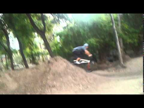 9th street dirt jumps/ trails on our way to cali in austin tx