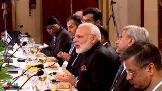 PM Netanyahu and Indian PM Modi hold a working lunch at the King David Hotel in Jerusalem