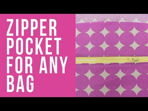 How to Add a Zipper Pocket to Any Size Bag