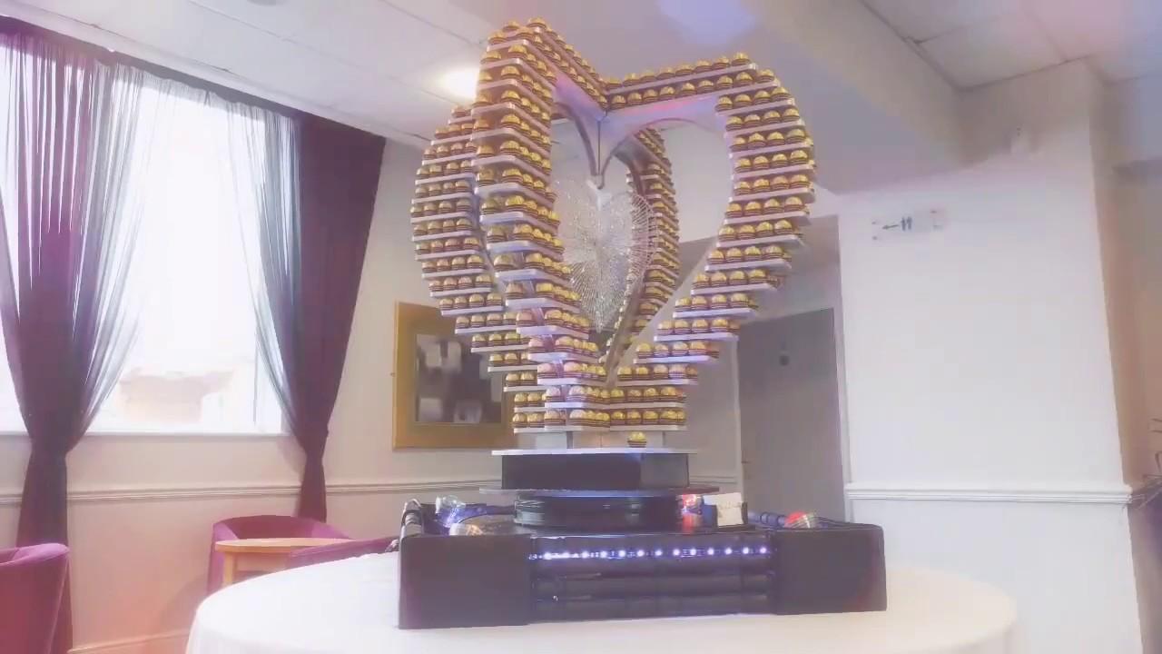 Weihnachtsdeko Ferrero.3d Heart Ferrero Rocher Tower Rotating Base Stand Uk Birmingham London Manchester Nottingham