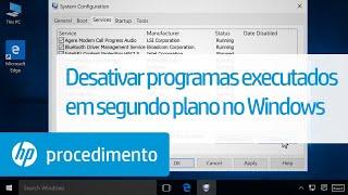 Desativar programas executados em segundo plano no Windows