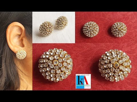 How to make silk thread stud at home step by step tutorial // simple and easy // DIY