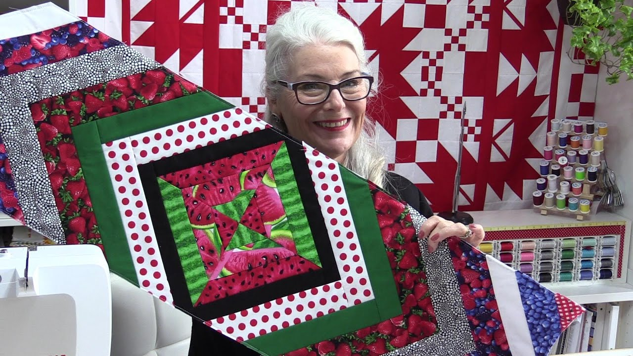 Flip And Stitch Quilt As You Go Table Runner Youtube