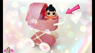 як зробити легко коляску для ляльки