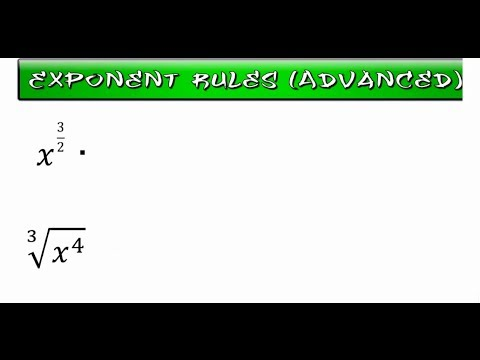Exponent Rules (Advanced)
