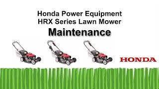 HRX217 Series Lawn Mower Maintenance