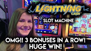 MASSIVE WIN! Lightning Cash Slot Machine! Incredible Amount of BONUSES!!