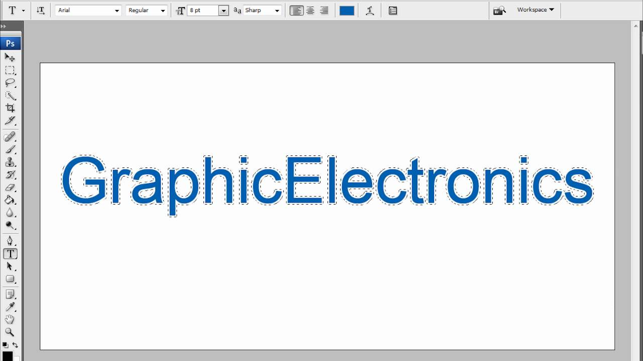how to get outline of text in photoshop
