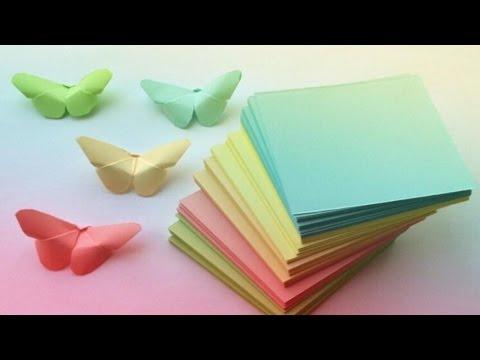 БАБОЧКИ из БУМАГИ / DIY Butterfly Room Decor / ОРИГАМИ БАБОЧКА