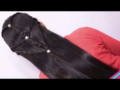 beautiful-hairstyles-with-puff-/-easy-hairstyles-/-wedding-hairstyles-/-attractive-looks-in-a-woman